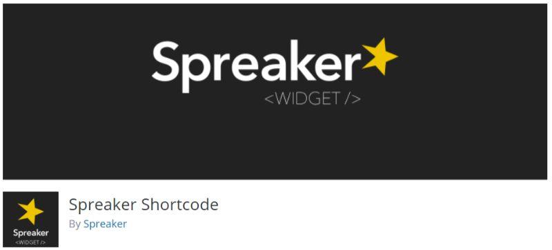 Spreaker Shortcode WordPress podcast plugin