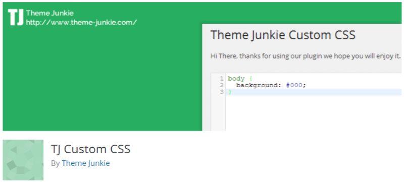 TJ Custom CSS plugin