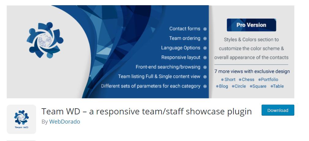 Team WD wordpress plugin