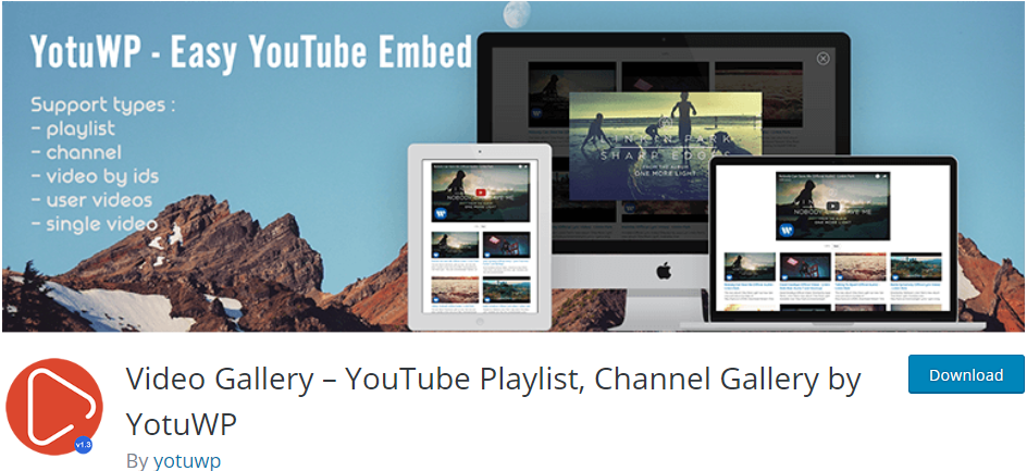 Video Gallery WordPress Youtube plugin