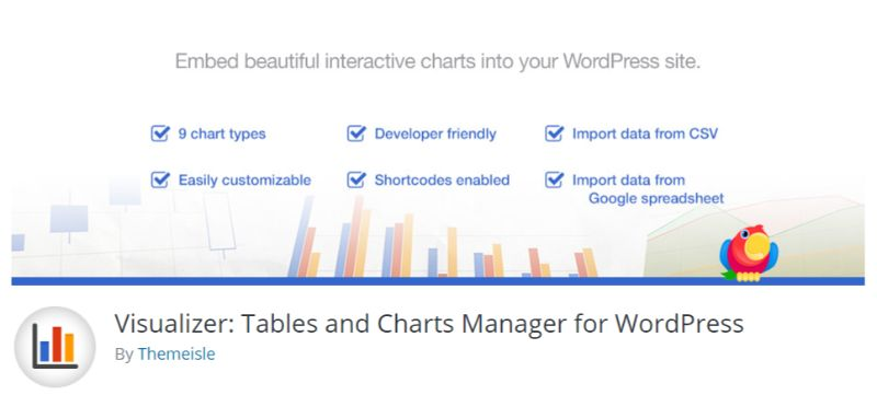 Visualizer WordPress chart plugin