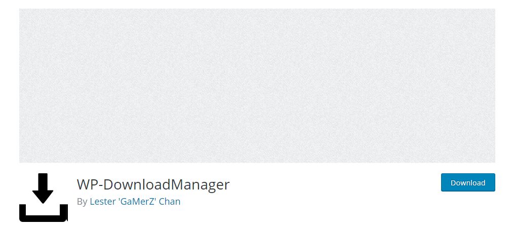 WP – Download Manager plugin