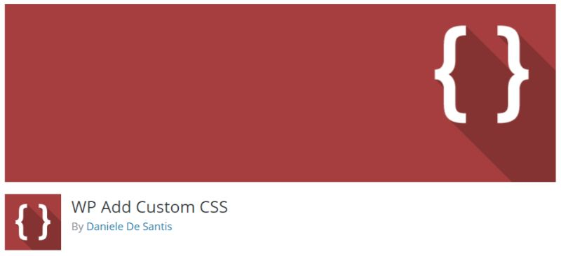 WP Add Custom CSS plugin