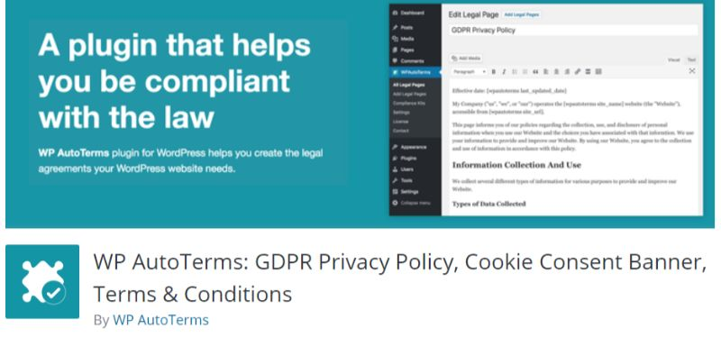 WP AutoTerms WordPress GDPR plugin