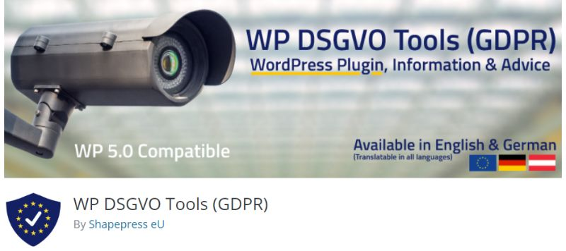 WP DSGVO Tools GDPR plugin