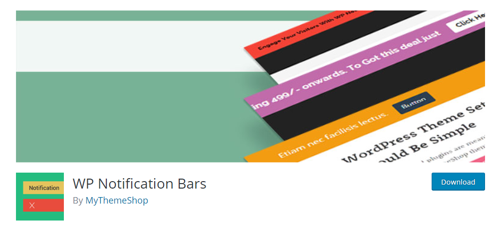 WP Notification Bars plugin