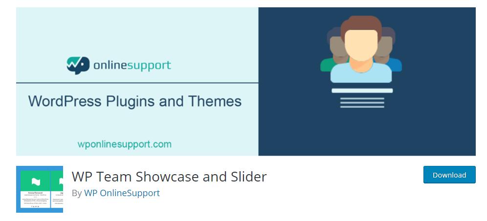WP Team showcase and Slider plugin