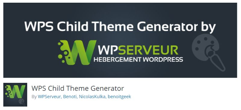 WPS Child Theme plugin