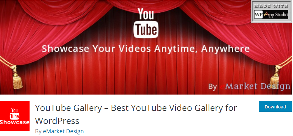 YouTube Gallery WordPress Youtube plugin