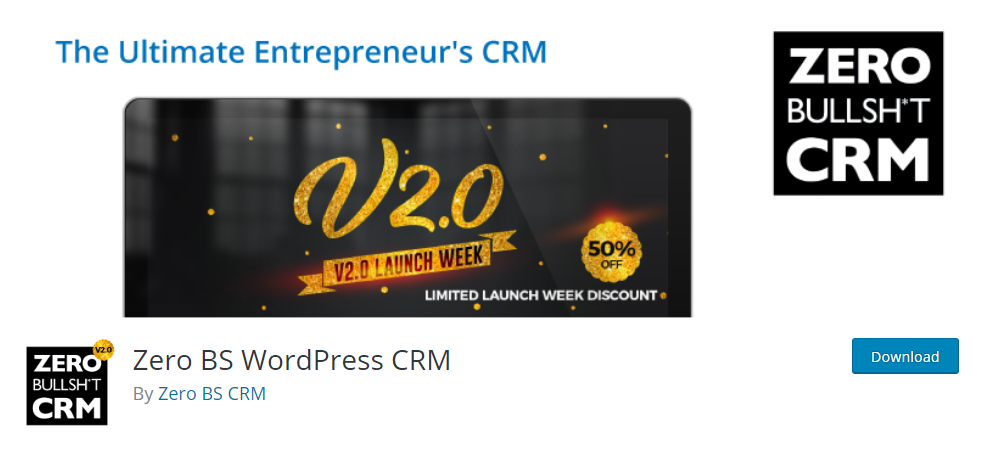 Zero BS WordPress CRM plugin