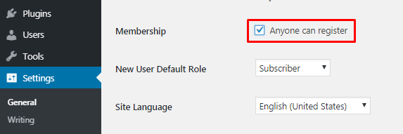 Allow anyone to register forum in WordPress