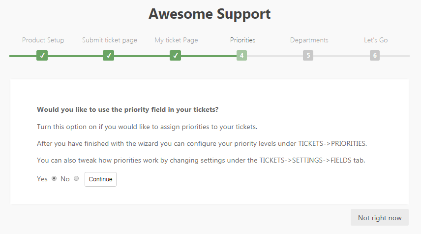 Configure ticket priorities