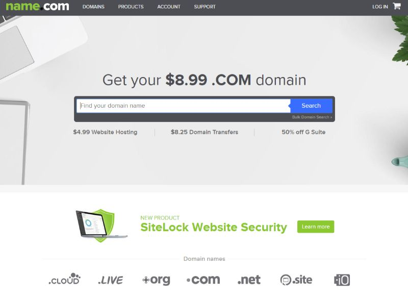 Domain registrar name com