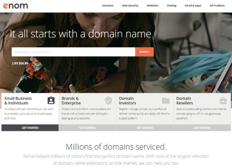 Enom domains