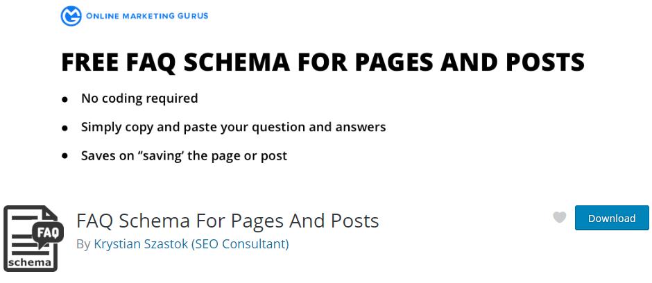 FAQ Schema Pages Posts plugin