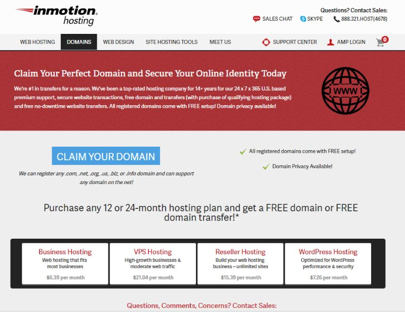 Inmotion hosting domain