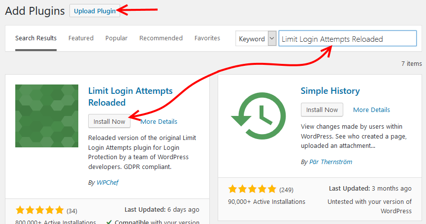 Install Limit Login Attempts Reloaded plugin
