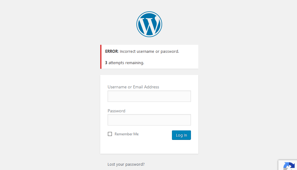 WordPress limit logins