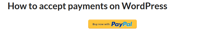 View payment button