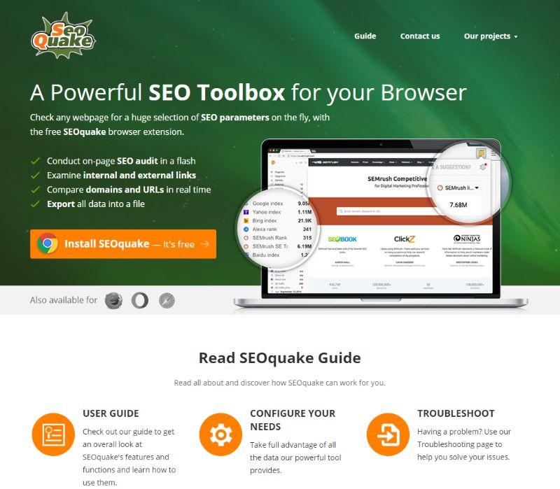 SEOquake SEO tool