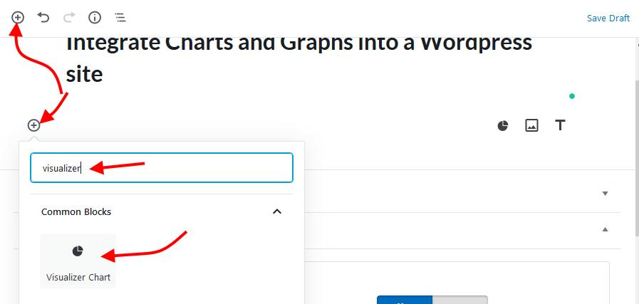 Visualizer add chart block