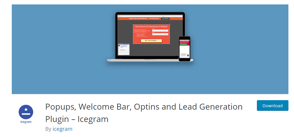 WP popup plugin by Icegram
