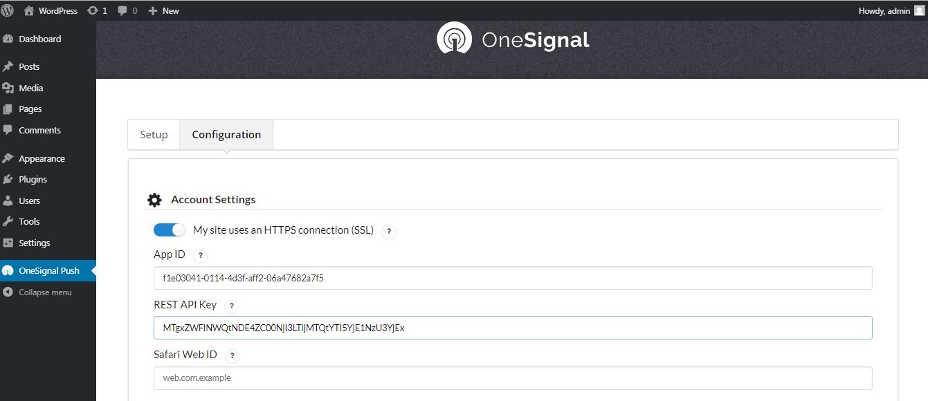 Adding API and APP ID