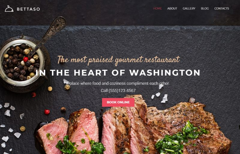 Bettaso WordPress Restaurant Theme