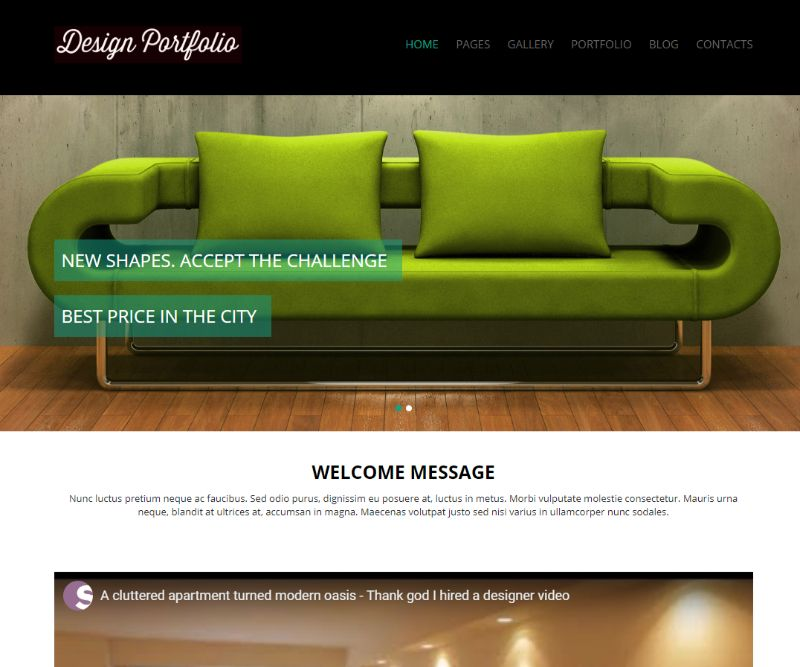 Design Portfolio WordPress video theme
