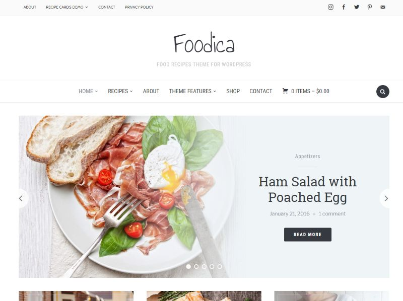 Foodica WordPress food theme