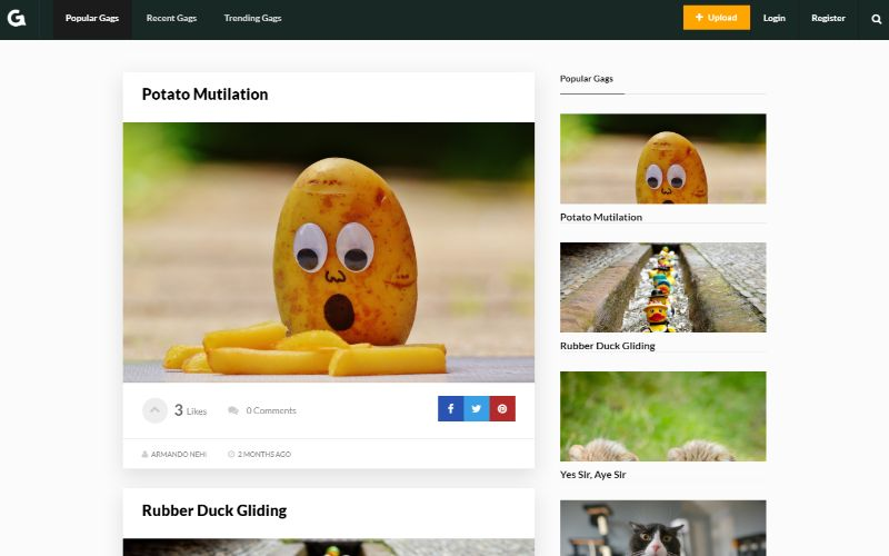 Gags WordPress video theme