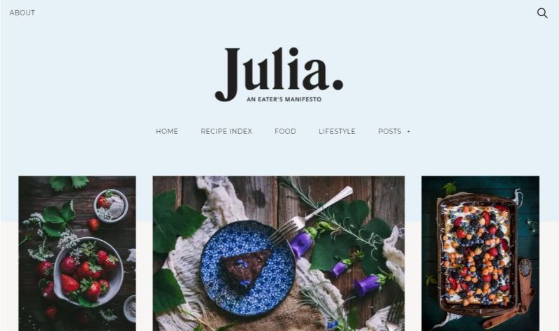 Julia WordPress food theme