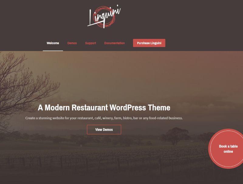 Linguini WordPress Restaurant Theme