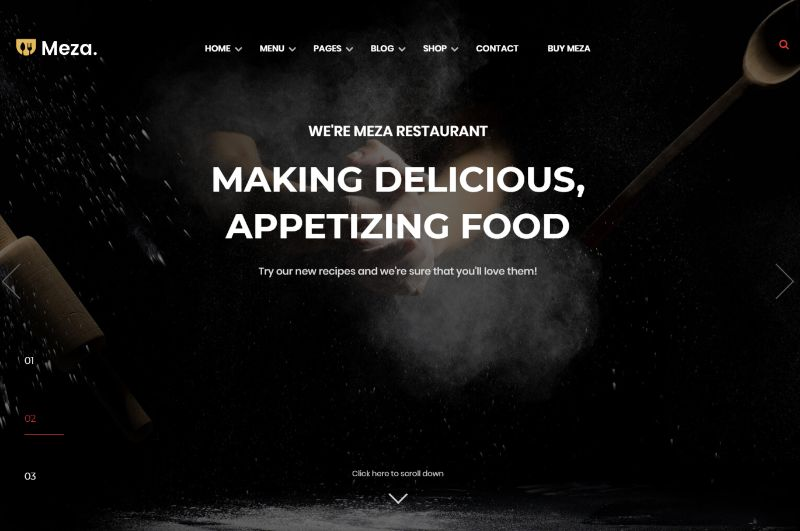 Meza WordPress Restaurant Theme