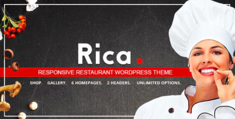 Rica WordPress Restaurant Theme