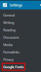 Setting up Custom Font Controls