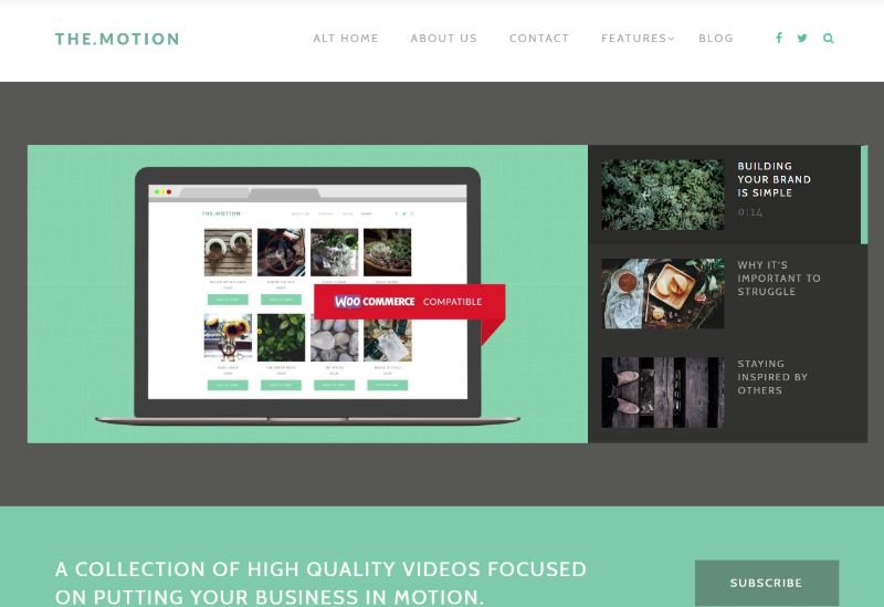 The Motion WordPress video theme