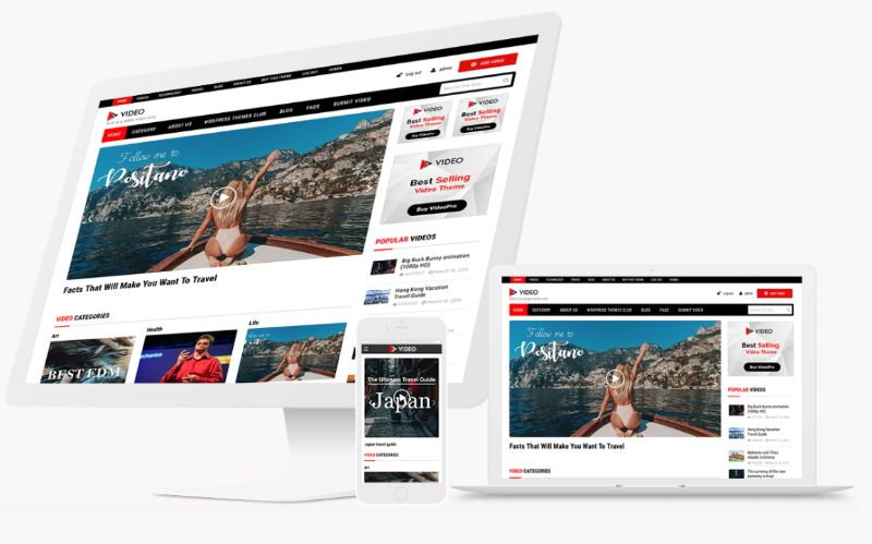 Video templatic WordPress video theme