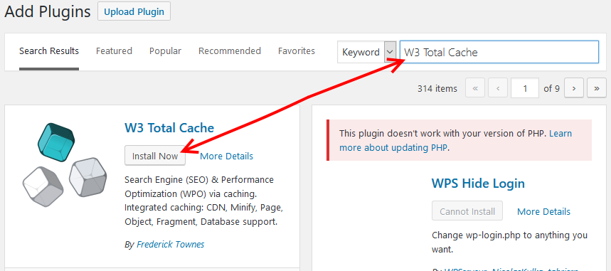W3 Total Cache install