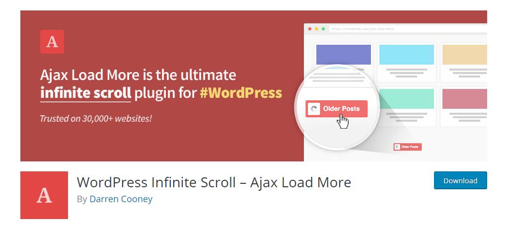 WordPress Infinite Scroll – Ajax Load More