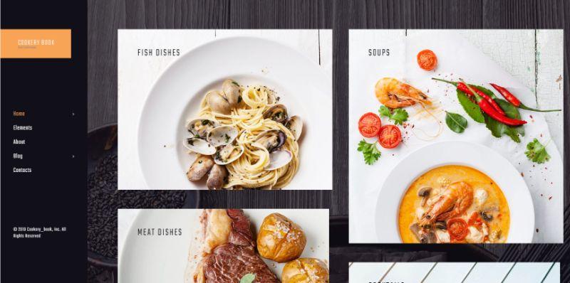 cookery book WordPress food theme