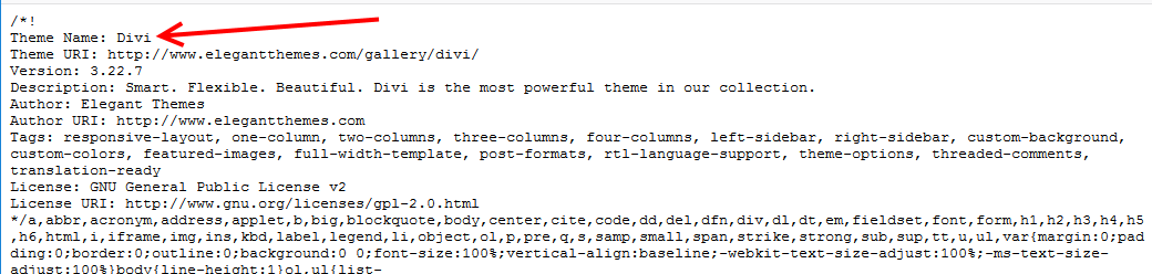 View Website Main CSS File