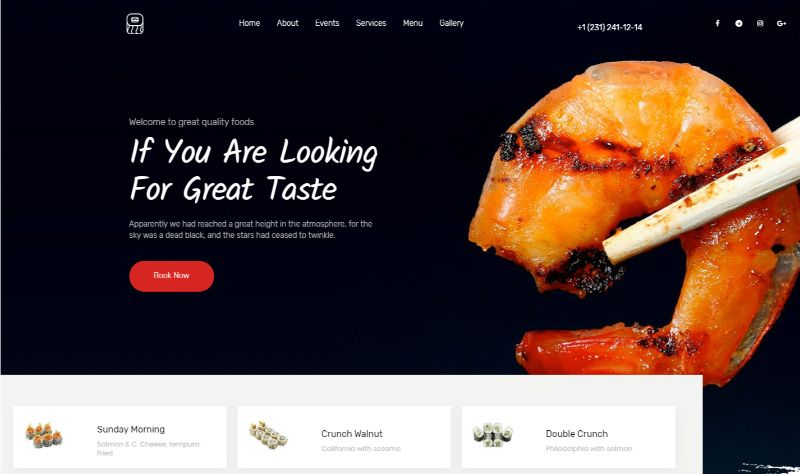 European cuisine WordPress food theme