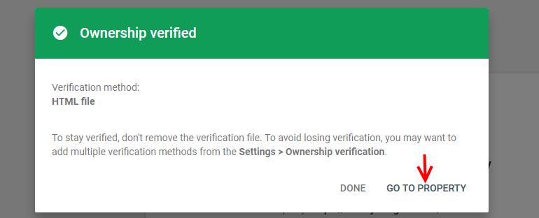Property Ownership Verified