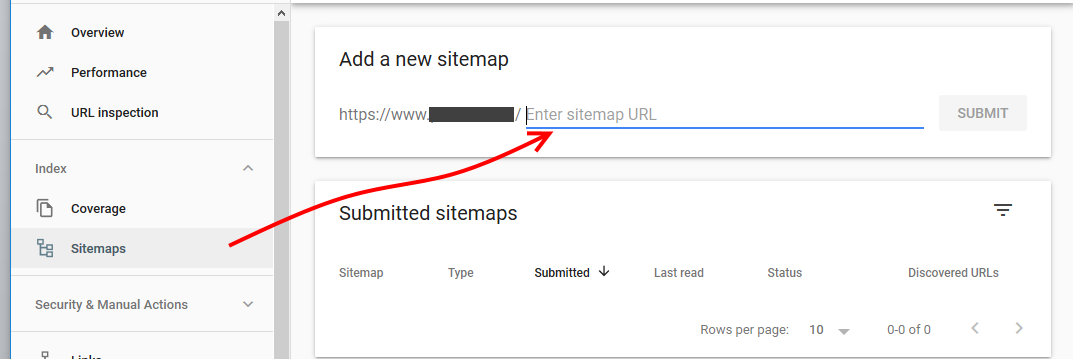 Google Console Sitemap