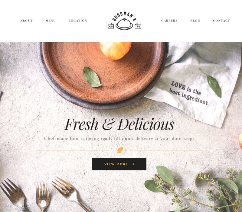 Gourmet WordPress Restaurant Theme