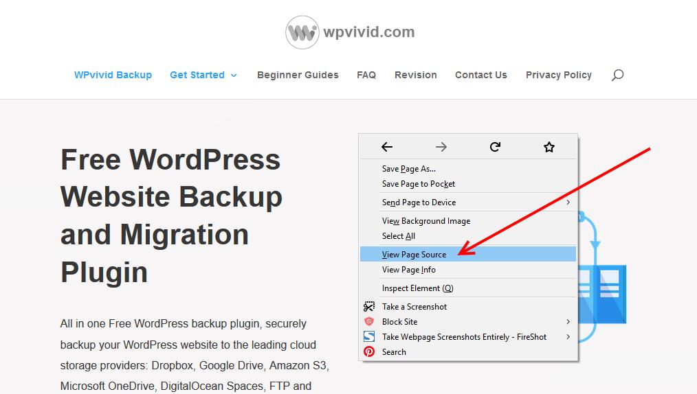 WPvivid Home Page