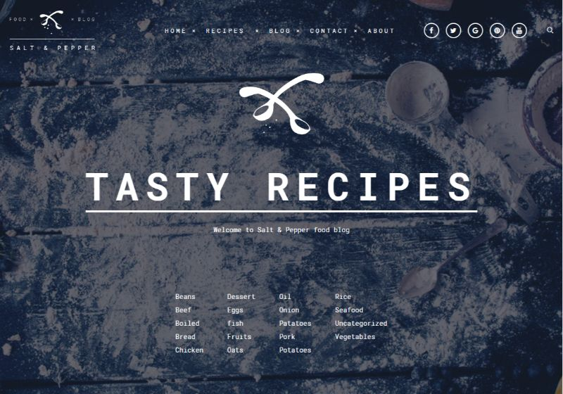 Salt Pepper WordPress food theme