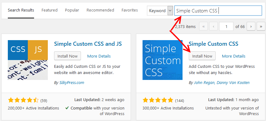 Install Simple CSS WP Plugin