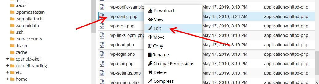 wpconfig edit